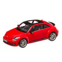 Volkswagen New Beetle 2012, macheta auto, scara 1:24, rosu, Welly