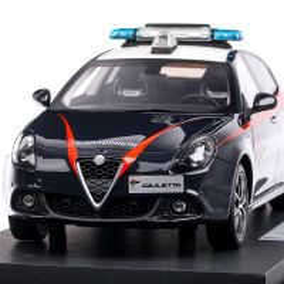 Alfa Romeo Giulietta Carabinieri 2019, macheta auto, scara 1:18, albastru, BBR Models