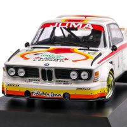 BMW 3.0 CSL Juma Tuning #4 1976, macheta auto, scara 1:18, alb cu rosu, Minichamps