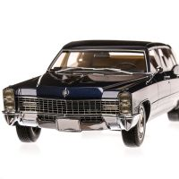 Cadillac Fleetwood series 75 Limousine 1967, macheta auto, scara 1:18, albastru inchis, Bos-Models