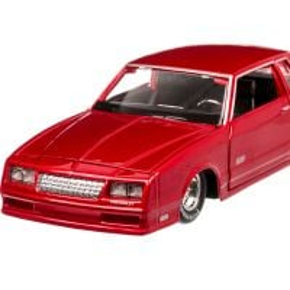 Chevrolet Monte Carlo SS 1986, macheta auto scara 1:24, rosu metalizat, Maisto