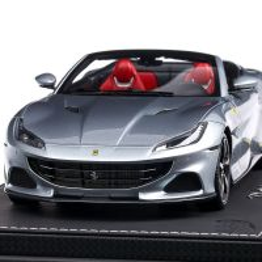 Ferrari Portofino M 2020, macheta auto, scara 1:18, argintiu metalizat, BBR Models