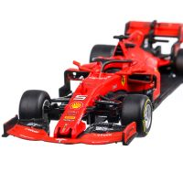 Ferrari SF90 #5 F1 GP Australia S.Vettel 2019, scara 1:43, rosu, window box, Bburago