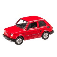 Fiat 126 1993, macheta auto, scara 1:24, rosu, Welly