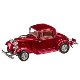 Ford COUPE 1932, macheta auto scara 1:24, visiniu metalizat, Motor Max