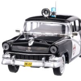 Ford Fairlane  Police 1955, macheta auto scara 1:43, negru, Magazine Models