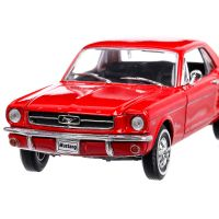 Ford Mustang Coupe 1964, macheta auto, scara 1:24, rosu, Welly