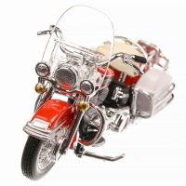 Harley-Davidson FLH Electra Glide 1968, macheta motocicleta, scara 1:24, portocaliu, Maisto