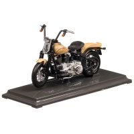 Harley-Davidson FLSTSB Cross Bones 2008, macheta motocicleta, scara 1:18, bej mat, Maisto