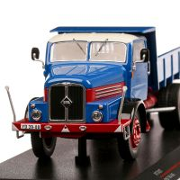 IFA H6 1957, macheta  autobasculanta, scara 1:43, albastru cu rosu, IST Models