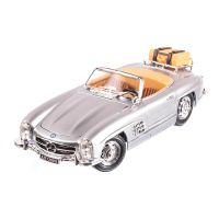 Mercedes-Benz 300SL Touring Cabrio 1957, macheta auto scara 1:18, gri, window box, Burago