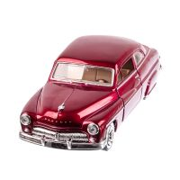 Mercury COUPE 1949, macheta auto scara 1:24, rosu metalizat, window box, Motor Max