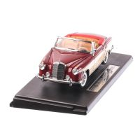Mercedes Benz 220 SE Open Convertible 1958, macheta auto scara 1:18, crem cu visiniu, window box, SunStar