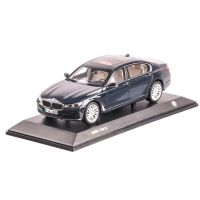 BMW 750Li seria 7 Langversion G12, macheta auto scara 1:18, indigo, window box, Paragon