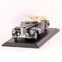 Mercedes-Benz 300S Cabriolet 1955, macheta auto scara 1:18, negru, window box, Maisto