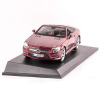 MERCEDES BENZ SL 500 CABRIOLET, macheta auto scara 1:18, rosu, window box, Maisto