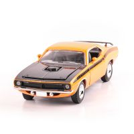 PLYMOUTH CUDA 1970 scara 1:24, portocaliu cu negru, window box, New Ray