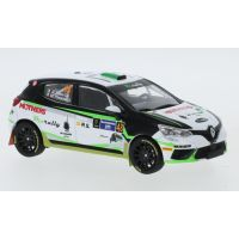 Renault Clio RSR #48 Raliul Mexicului 2020, macheta  auto,  scara 1:43, alb cu verde, IXO