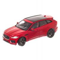 Jaguar F-Pace 2016, macheta auto, scara 1:24, rosu, window box, Welly