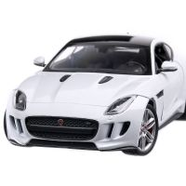 Jaguar F-Type Coupe 2015, macheta auto, scara 1:24, alb, Welly