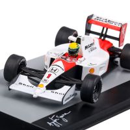 Mclaren MP4/6 Ayrton Senne World Champion F1 1991, macheta auto scara 1:43, alb cu rosu, Atlas