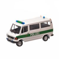 Mercedes-Benz 208D Bus Polizei Hamburg 1988, macheta auto scara 1:18, alb cu verde, Limited Edition, KK SCALE