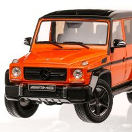 Mercedes-Benz AMG G63 2015, macheta auto scara 1:18, portocaliu cu negru, iScale