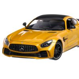 Mercedes-Benz AMG GT R 2017, macheta auto, scara 1:24, galben metalizat, Welly