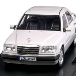 Mercedes-Benz E-Klasse (W124) 1989, scara 1:18, alb, iScale