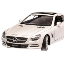 Mercedes-Benz SL 500 2012, macheta auto, scara 1:24, alb, Welly