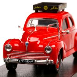 Peugeot 203 Casablanca 1960, macheta Taxi, scara 1:43, rosu, Atlas