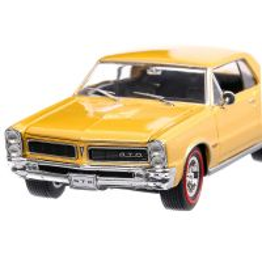 Pontiac GTO 1965, macheta auto, scara 1:24, auriu, Welly