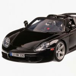 Porsche Carrera GT 2004, macheta auto, scara 1:18, negru, Motor Max