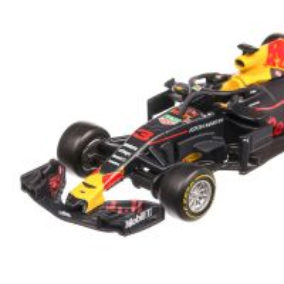 Red Bull RB14 F1 Day Heuer #3 D.Ricciardo Red Bull 2018 , scara 1:43, albastru cu rosu si cu galben, Burago
