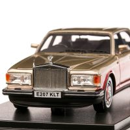 Rolls Royce Silver Spirit 1987, macheta auto, scara 1:43, crem cu visiniu, Neo