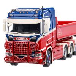 Scania NGS R-serie Kalsereds 2020, macheta camion, scara 1:50, rosu cu alb si albastru, Tekno