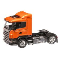 Scania R470 2009, macheta cap tractor scara 1:32, portocaliu inchis metalizat, Welly